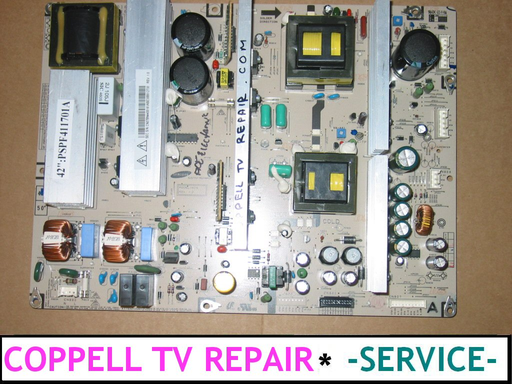 PSPF411701A Samsung power supply board repair service by Coppell TV ...