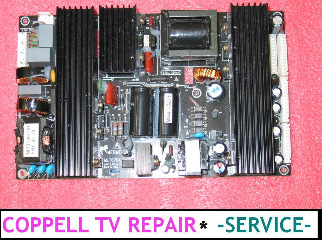 Television Repair Service : Mlt ax mlto oax power supply repair service for dead or