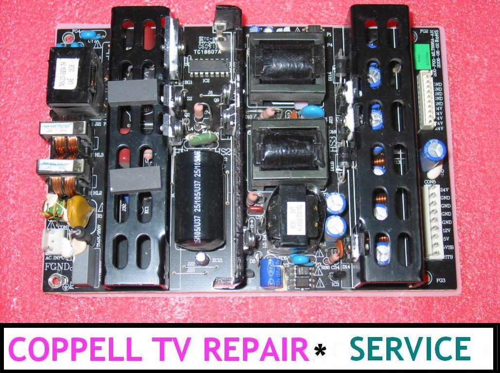 ELEMENT ELCPO321 POWER SUPPLY BOARD REPAIR SERVICE - Coppell TV Repair