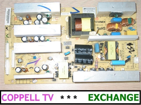 Picture of STARMEN TOM277CABB power supply board for Digital Lifestyles LT42322 - serviced, tested, $60 credit for old dud