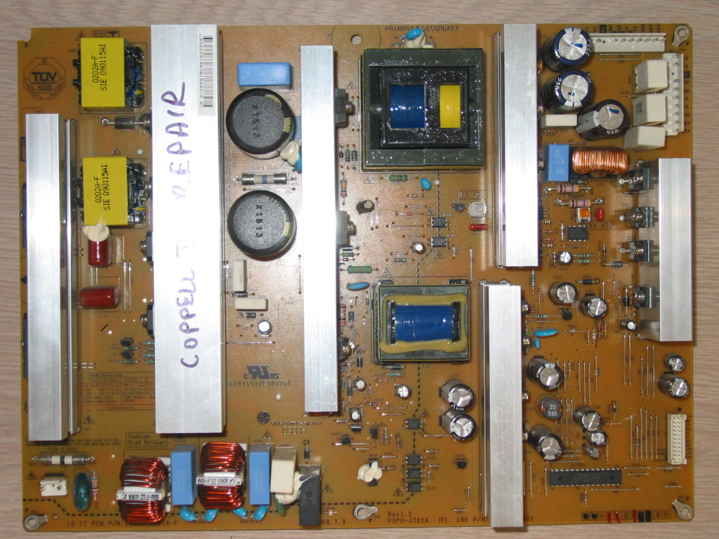 LG 50PG3000 power supply board repair service for dead or