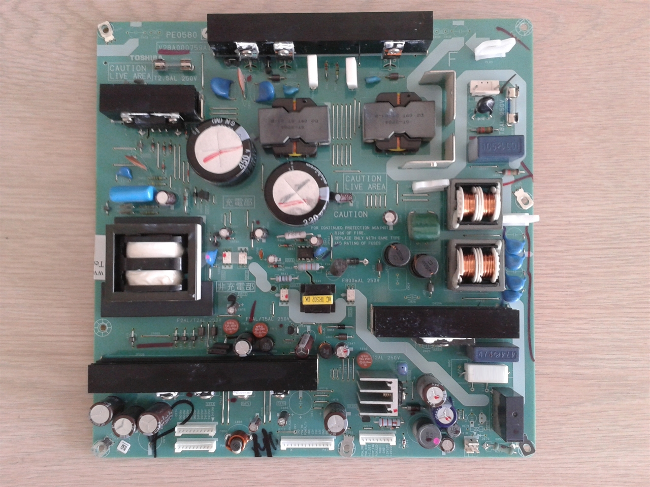 Toshiba Circuit Board Repair User Guide Manual That Easy To Read Printed 42xv540u Power Supply Service Dead Tv Or Dark Rh Coppelltvrepair Com Hot Tub Cleaning Solution
