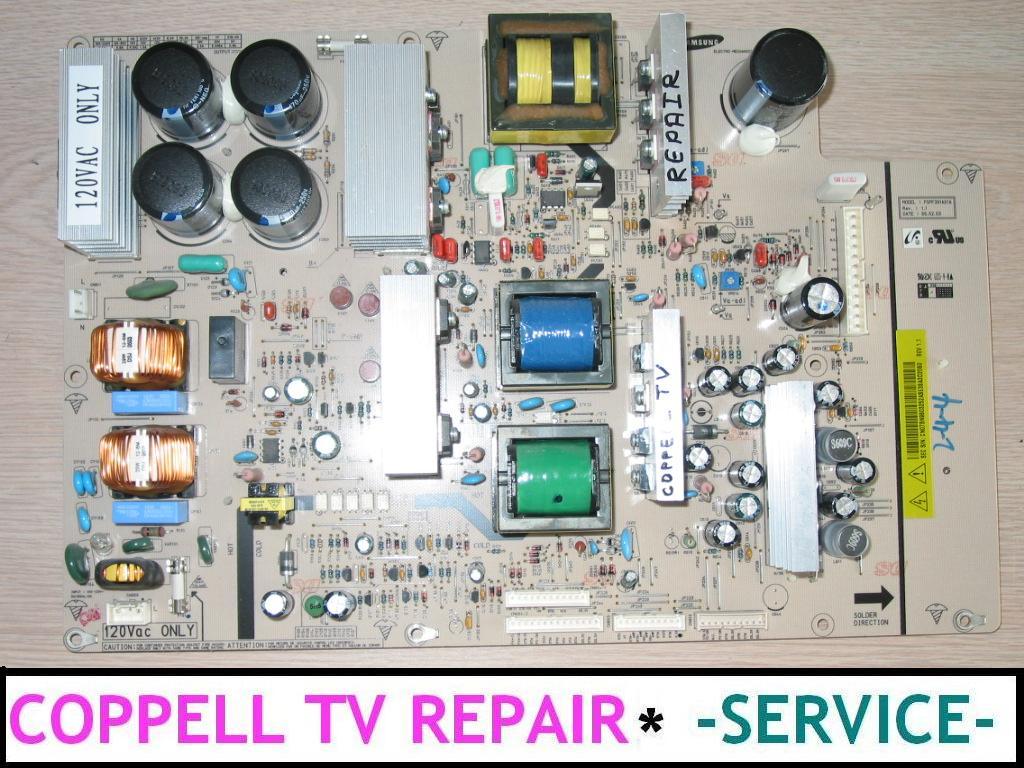 SAMSUNG HPS4273X/XAA POWER SUPPLY BOARD REPAIR SERVICE FOR DEAD OR ...