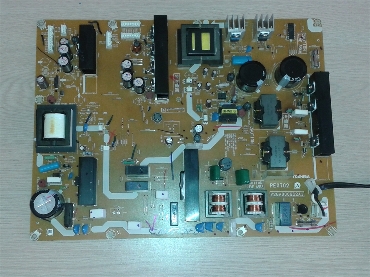 Toshiba 55ZV650U power supply board repair service for dead, refusing to  power TV or faint display problem