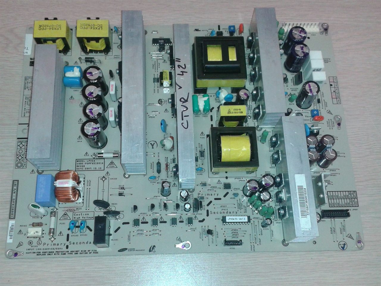 Tv Circuit Board Repair Service Near Me Complete Wiring Diagrams Printed Lg 42pg20 Ua Power Supply Coppell Rh Coppelltvrepair Com Components Parts