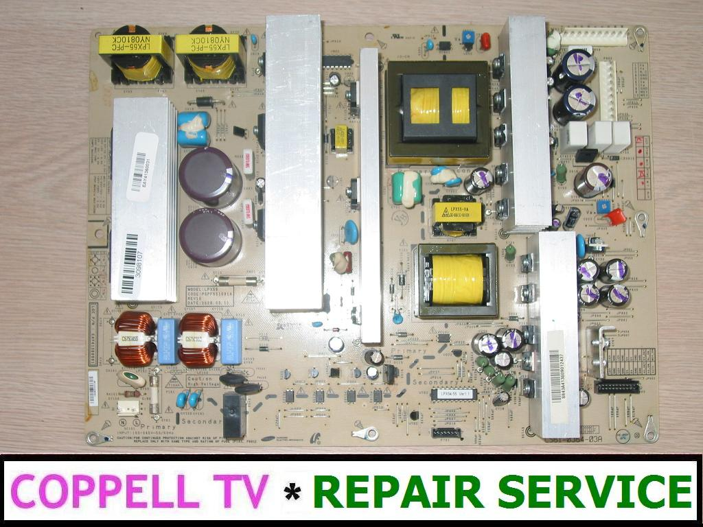 Zenith Z50PG10-UA plasma TV power supply board repair service