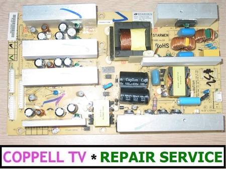 Picture of REPAIR SERVICE FOR SOYO MT-SYTPT3227AB  POWER SUPPLY - TV NOT POWERING ON OR SHUTTING OFF OR TAKING TIME TO COME UP
