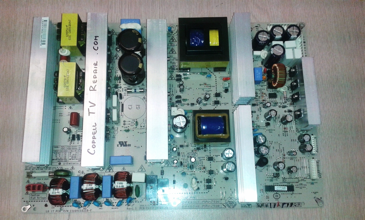 A repair service for the power supply board of the LG 50PG30F-UA