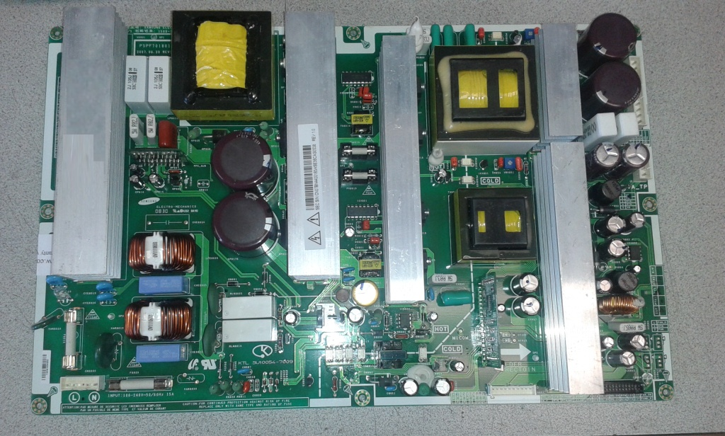 Samsung FPT5884X/XAA power supply repair service for dead or ...