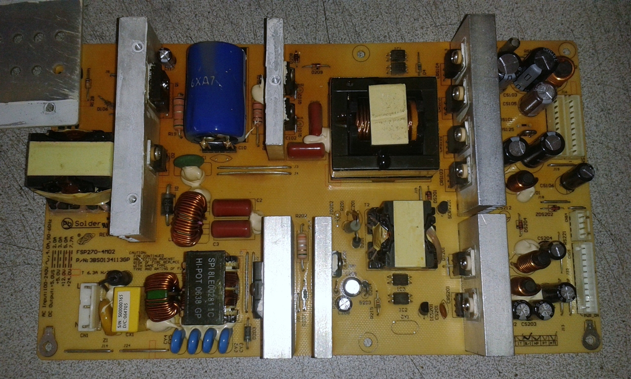 SCEPTRE X37SV-KOMODO power supply repair service for dead or turning