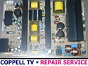 Picture of Repair service for LG 50PC3D-UC power faulty supply board causing power cycling, shutdown or totally dead TV