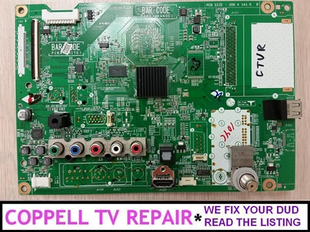 Picture of Repair service for LG 60PN5000-UA main board EBT62753701 / 62753701 - dead TV, stuck on logo, no HDMI, no image, no sound etc.