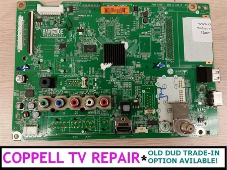 Picture of LG 60PN5300-UF main board EBT62394270 / EBT62394255 and equivalents - upgraded, tested, $50 credit for old dud